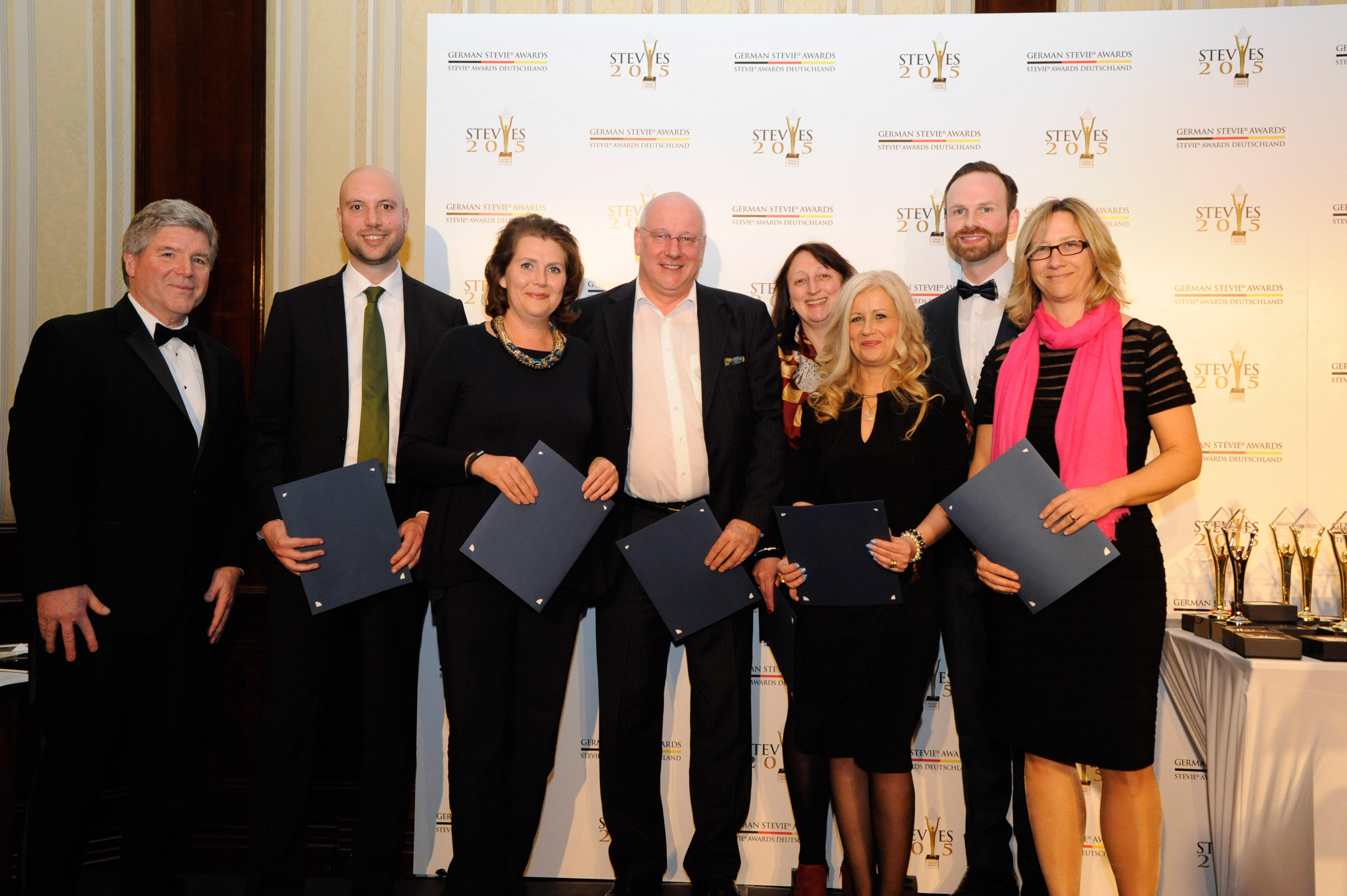 Jurymitglieder der German Stevie Awards 2015 bei der Preisverleihung in Berlin